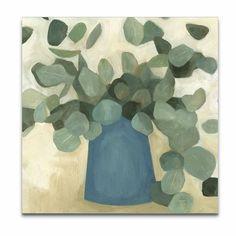'Greenery Still Life VI' Painting on Canvas Painting Prints, Art Prints, Abstract Paintings, Canvas Art, Canvas Prints, Big Canvas, Interior Minimalista, Wall Decor Set, Painted Jars