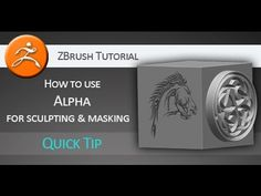 Quick Tip Tutorial: How to use Alpha for sculpting and masking in ZBrush - YouTube