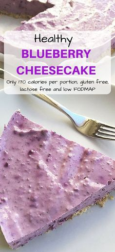 A super healthy cheesecake that you can even have for breakfast! Lactose free, gluten free and low FODMAP.