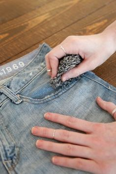 How to make Jeans into Shorts - pinning this because I have the hardest time getting my cut off shorts even.