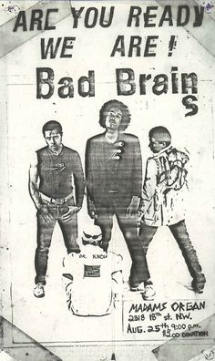 Bad Brains | 35 Old Punk Flyers That Prove Punk Used To Be So Cool