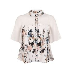 Miss Selfridge Angel sleeve print blouse- at Debenhams.com