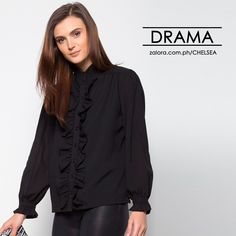 Your wardrobe can never be without a little dash of drama...   Zalora.com.ph/Chelsea    #zaloraph #lifestyle #ootd #lotd #shopping #onlineshopping #fbloggersuk #fbloggers