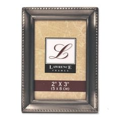 Lawrence Frames Antique Pewter 2x3 Picture Frame - Beaded Edge Design -- Details can be found by clicking on the image. (This is an affiliate link and I receive a commission for the sales)