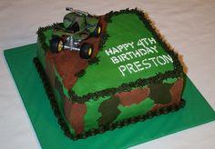 four wheeler birthday cakes | wheeler camouflage cake — Children's Birthday Cakes