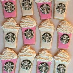 Vanilla and cocoa cookies - HQ Recipes 12th Birthday, Birthday Parties, Birthday Ideas, Birthday Gifts, Icing That Hardens, Starbucks Cookies, Coffee Cookies, Starbucks Coffee, Starbucks Birthday Party