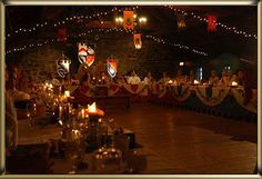 Medieval reception hall decorations