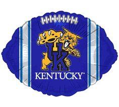 Kentucky UK Wildcats Blue Football 18-inch Microfoil Balloon $3.50