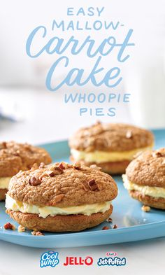 It's true, carrots are the Easter Bunny's favorite. If you don't count these Easy Mallow-Carrot Cake Whoopie Pies, that is. And since Easy is right there in the name, you know these won't take long to whip up. Just grab your JELL-O, COOL WHIP, and JET-PUFFED marshmallows and get whooping.