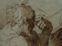 "PARMIGIANINO - Vieil Homme barbu consultant un In-Folio (Louvre INV6435) - Detail -d  -  TAGS : drawing dessin disegno personnage figure figures people personnes art painter peintre details détail détails croquis étude study sketch sketches wash lavis peinture painting Louvre France Italy Italy Parme Parma ""Le Parmesan"" Parmesan ""Francesco Mazzola"" Francesco Mazzola tête homme man ""tête d'homme barbu"" ""bearded man's head"" barbu bearded beard barbe portrait  old In-Folio book livre ""old man"""