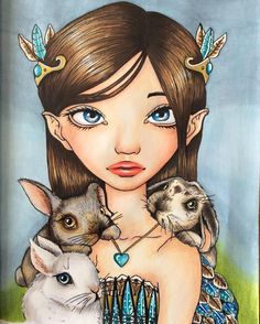 All finished , love this book the pictures are quick to do#derwentpencils #promarker #tanyabond #tanyabondart #bunnies #bunnykeeper #inklings2 #inklings