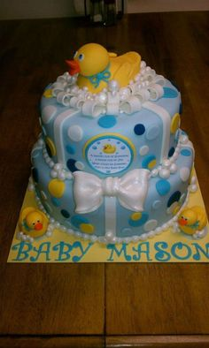 Rubber Duckie Baby Shower Cake for Ronda
