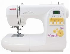 Janome 7360 Magnolia Sewing Machine with Bonus Kit Janome 7360 Magnolia Sewing Machine The Janome 7360 Magnolia Sewing Machine is the top of the Magnolia line with more stitches and features. The Janome 7360 Magnolia Sewing Machine is an ideal machine t Sewing Machine Online, Sewing Machine Reviews, Sewing Machines, Sewing Tutorials, Sewing Crafts, Sewing Projects, Sewing Ideas, Sewing Patterns, Walking Foot Quilting