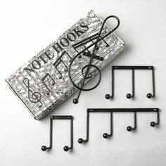 note hooks by music room direct | notonthehighstreet.com For the music student with things to hang
