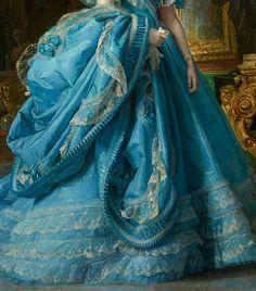 Infanta Maria Isabela de Borbon by Vicente Palmaroli, 1866