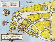 Kaart van Nieuw-Amsterdam