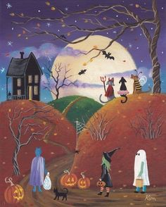 This 10 x 8 print from my original painting HAPPY HOWLoWEEN! is printed on acid free, archival paper. It is printed with ink that is moisture,