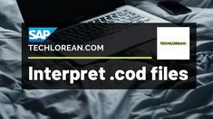 HOW TO INTERPRET .COD FILES SAP   TUTORIAL   SAP CONSULTANT Cod, Education, Videos, Youtube, Life, Cape Cod, Atlantic Cod, Educational Illustrations, Learning