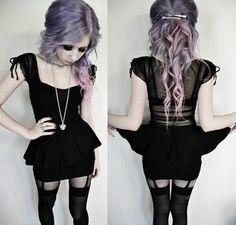 Love her hair! Pastel Goth