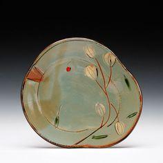 Victoria Christen - earthenware w/ multiple slips & glaze 1 x 8.5 x 7.75 schaller gallery