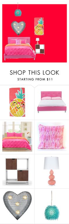 """Rubys room"" by hollythehippo on Polyvore featuring interior, interiors, interior design, home, home decor, interior decorating, Evergreen, Baxton Studio, Intelligent Design and Elise Flashman"