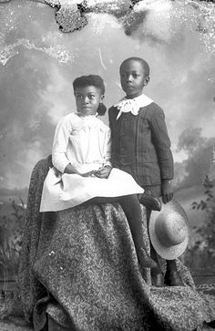 Seated girl and boy holding hat Alvan Harper, photographer Tallahassee, Florida, ca. 1885 - 1910 Alvan S. Harper Collection
