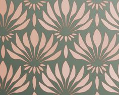 Items similar to Wall Stencil, Art Deco Fan Flowers Pattern, inches, reusable, allover repeat on Etsy Stencil Patterns, Stencil Art, Stencil Designs, Wall Patterns, Textures Patterns, Wall Stenciling, Floor Stencil, Leaf Stencil, Stencil Templates