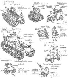 Frasian armoured vehicles by PenUser on DeviantArt Military Humor, Military History, War Of Attrition, Valkyria Chronicles, Steampunk Weapons, Military Drawings, Rc Tank, Sci Fi Models, War Comics