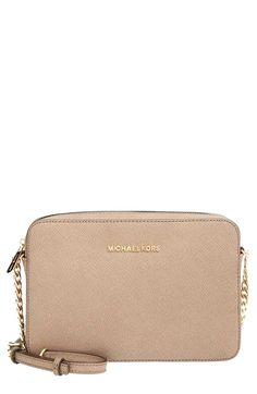 I love the pink color this bag comes in.... Michael Kors Large Jet Set East/West Saffiano Crossbody Bag Michael Kors For Information Access our Site http://storelatina.com/ #טבעות #Sib #Rings #прстени