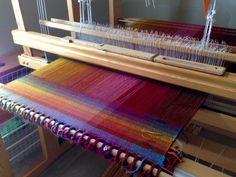 Sampling helps determine optimum weft colors.