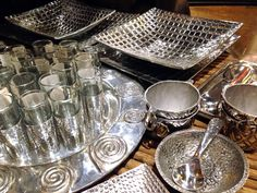 Pewter servingware, mirrors, picture frames - at No Mas!