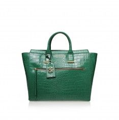 fd848eac34d croc beatrice tote green tote bag from Kurt Geiger London Tote Purse, Tote  Handbags,