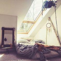 dream-spaces:skylight in a cozy bedroom  ☼ ☾