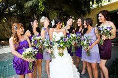 choose own dress purple bridesmaids - Google Search