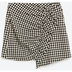 GINGHAM CHECK MINI SKIRT - View all-SKIRTS-WOMAN | ZARA United States ($50) ❤ liked on Polyvore featuring skirts, mini skirts, short mini skirts, gingham skirt, mini skirt, short skirts and vichy