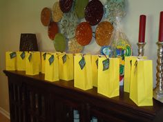 party favor bags - lego creation from the lego fun favor sets, homemade lego gummy candy, pinata candy