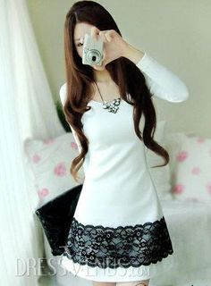 #Discount ,$12.69 #Beautiful Korean Style Slim Dress.카지노마카오 COKE7.COM 카지노마카오                                                                                                                            Más
