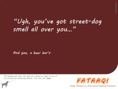 Ad 1 in self-created campaign in FATAAQ series, this time for street dogs...