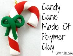 This Christmas craft project shows you how to make a candy cane out of polymer clay. You can use it as a tree ornament or a necklace pendant.
