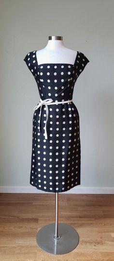 056f139db0933 1950s-60s Luis Estevez Silk Faille Hourglass Dress Suit / Couture Details / Hourglass  Dress / 1950s Silk Dress / 50s Jacket / Small