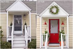 Ways to Create Great Curb Appeal for your Home | Love the idea of frosting the front door and etching your house number. So cute :)