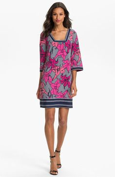 Laundry by Shelli Segal Print Jersey Shift Dress available at #Nordstrom