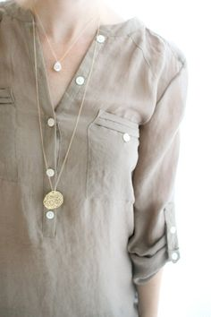Layered Long Necklaces. Love the longer necklace! Would love that long chain with the diamond pendant, too!