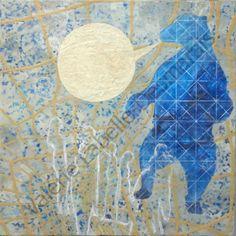 Valérie Labelle-Desmarais: Encaustic on wood