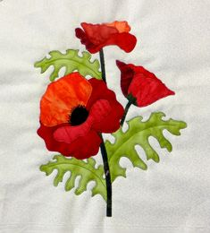 Poppy applique block pattern at Arbee Designs. Judy: other flowers at this site Flower Applique Patterns, Applique Templates, Applique Designs, Quilt Patterns, Applique Ideas, Block Patterns, Applique Quilts, Embroidery Applique, Quilting Projects