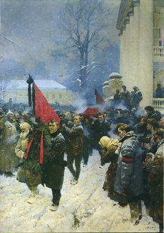 Vladimir Aleksandrovich Serov: Lenin's Funeral, 1962-1964