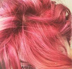 Pink hair #pinkhair #rosegoldhair