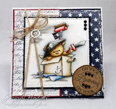 Love this sweet boys card from the talents of Jenny Hodges. Gorgeous Maja design papers from Sweden, some of my favourite! Sweet Lili of the Valley stamp, so beautifully coloured. Boy Cards, Kids Cards, Cute Cards, Men's Cards, Homemade Birthday Cards, Happy Birthday Cards, Beautiful Handmade Cards, Card Making Inspiration, Masculine Cards