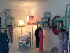 Foxette Boutique chair clothes racks