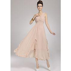 Women's Summer Bohemia V Neckslim Dress – USD $ 39.19